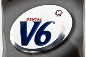 V6 Dental Care Liquorice 250x2 stk