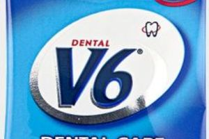 V6 Dental Care Strong Mint 250x2 stk