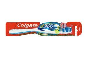 Tandbørste 360 Soft med travel cap 12 stk
